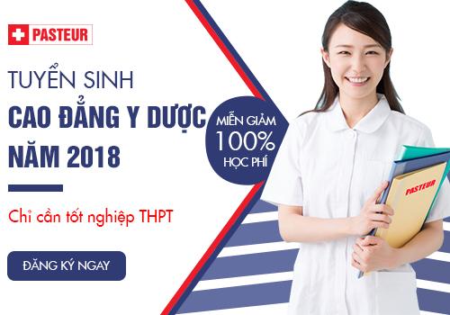 Trường Cao đẳng Y Dược Pasteur TPHCM  tuyển sinh năm học 2018