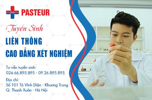 Trường Cao đẳng Y Dược Pasteur thông báo tuyển sinh Liên thông Cao đẳng Xét nghiệm