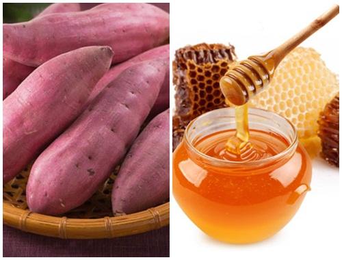 Sử dụng khoai lang và mật ong giúp làm đẹp da
