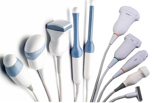 Đầu dò thẳng, đầu dò cong  và đầu dò tim là 3 loại đầu dò thường được sử dụng